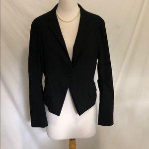BCBGMAXAZRIA Black one button blazer size Large